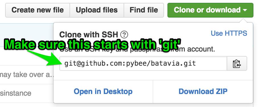 The GitHub clone popup