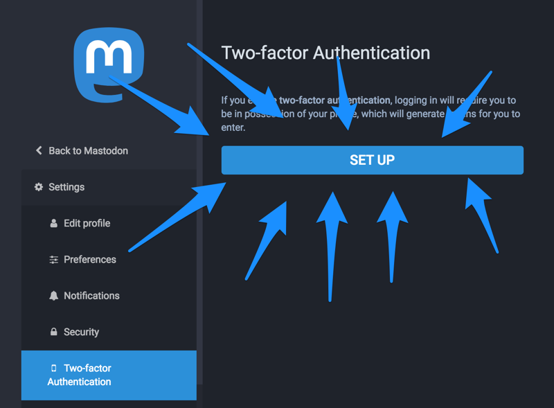 How to set up 2FA on a Mastodon account